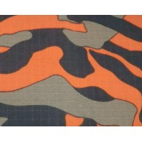 Rip-stop camouflage fabric